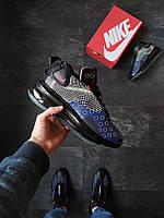 Кроссовки мужские Nike DMSX Air Max 720 Черные с синим, фото 1