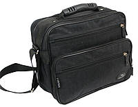 Прочная сумка мужская из жатки Wallaby 2407 black, фото 1