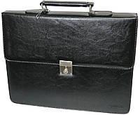 Портфель деловой из искусственной кожи 4U Cavaldi черный, B020139, фото 1