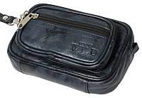 Поясная сумка-барсетка из кожи Always Wild 901-TT navy, фото 1