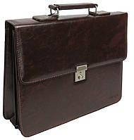 Деловой портфель из эко кожи 4U Cavaldi коричневый, фото 1