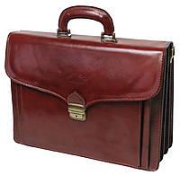 Деловой портфель из натуральной кожи Rovicky AWR-6-1 коричневый, фото 1