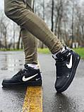Кроссовки  высокие натуральная кожа  Nike Air Force Найк Аир Форс (40,41,42,44,45), фото 2