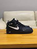 Кроссовки  высокие натуральная кожа  Nike Air Force Найк Аир Форс (40,41,42,44,45), фото 9