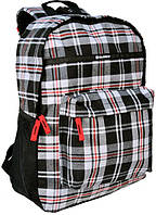 Рюкзак в клетку Paso 14-016B серый 18 л, фото 1