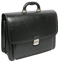 Мужской портфель из эко кожи Jurom Польша чёрный, фото 1