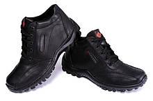 Зимние мужские ботинки  из натуральной кожи на меху в стиле Коламбия ZK Antishok 40 41 42 43 44 45