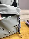 Рюкзак портфель женский оливковый (есть другие цвета), фото 2