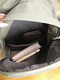 Рюкзак портфель женский оливковый (есть другие цвета), фото 6