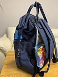 Сумка - рюкзак для мам Mommybaby/Мами бэйби  ->  синий цвет, фото 5