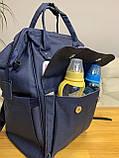 Сумка - рюкзак для мам Mommybaby/Мами бэйби  ->  синий цвет, фото 6
