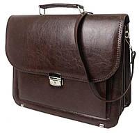 Мужской портфель из кожзаменителя Arwena 7416 коричневый, фото 1