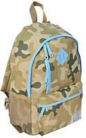 Рюкзак Paso CM-182B камуфляж/голубой 18 л, фото 1