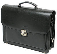 Портфель деловой из эко кожи Jurom Польша 0-38-111 чёрный, фото 1