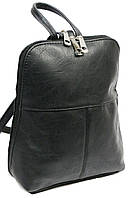 Женский рюкзачок 4U Cavaldi кожзам черный 6 л, фото 1