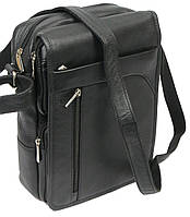 Мужская сумка из кожи Always Wild 0163-52223 чёрная, фото 1