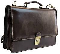 Мужской кожаный портфель TOMSKOR, Польша 81563 коричневый, фото 1