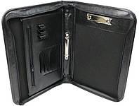 Деловая папка с ручкой из кожзаменителя A-art 29TMAR черная, фото 1