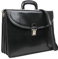 Портфель кожаный мужской TOMSKOR, Польша 81581 черный, фото 1