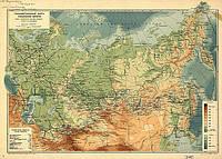 Карта Российской империи 100см х 72см холст