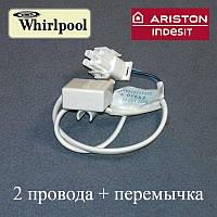 Датчик для холодильника Whirlpool, Indesit, Hotpoint-Ariston и Stinol Ноу Фрост (два провода + перемычка)