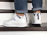 Мужские кроссовки Nike Air Force белые, фото 3