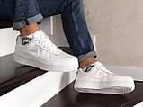 Мужские кроссовки Nike Air Force белые, фото 4