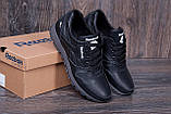 Мужские кожаные кроссовки Reebok Classic Black (реплика), фото 7