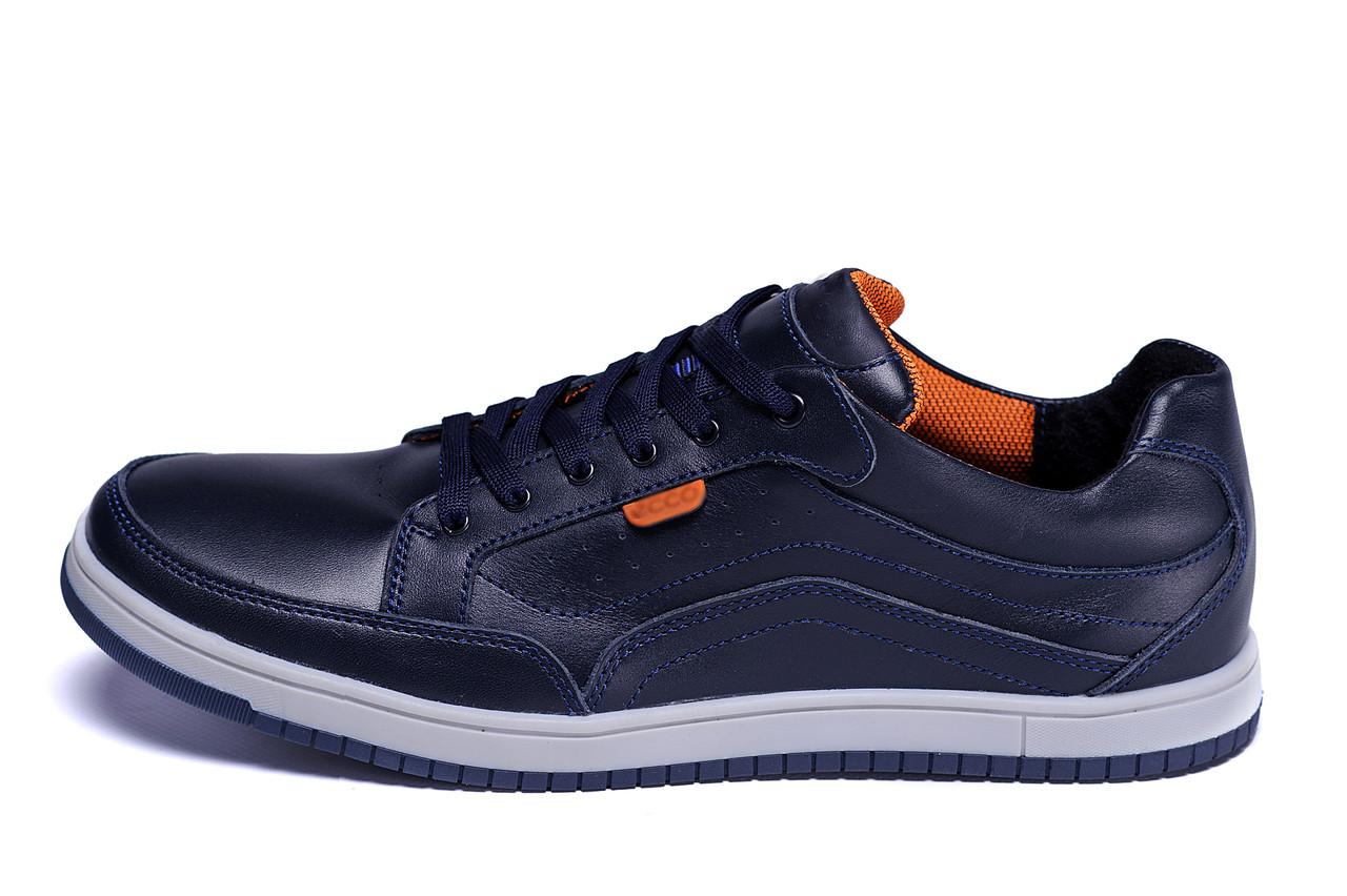 Мужские кожаные кроссовки  Е-series Wayfly Blue (реплика)