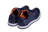 Мужские кожаные кроссовки  Е-series Wayfly Blue (реплика), фото 3