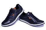 Мужские кожаные кроссовки  Е-series Wayfly Blue (реплика), фото 5
