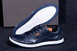 Мужские кожаные кроссовки  Е-series Wayfly Blue (реплика), фото 7