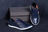 Мужские кожаные кроссовки  Е-series Wayfly Blue (реплика), фото 8