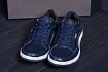 Мужские кожаные кроссовки  Е-series Wayfly Blue (реплика), фото 9