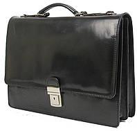 Деловой портфель из натуральной кожи TOMSKOR 81573 чёрный, фото 1