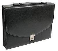 Деловая папка-портфель из эко кожи JPB AK-08 черная, фото 1