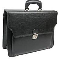 Портфель мужской из кожзаменителя JPB Польша TE-69 черный, фото 1