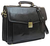 Портфель из качественной натуральной кожи Verostilo 00033A черный, фото 1