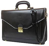 Портфель из качественной натуральной кожи Verostilo 00030A черный, фото 1