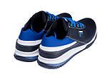 Мужские кожаные кроссовки FILA Biue (реплика), фото 6