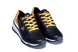 Мужские кожаные кроссовки FILA Black (реплика), фото 3