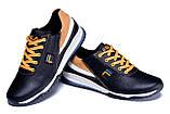 Мужские кожаные кроссовки FILA Black (реплика), фото 4