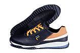 Мужские кожаные кроссовки FILA Black (реплика), фото 5