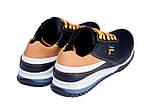 Мужские кожаные кроссовки FILA Black (реплика), фото 6