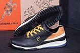 Мужские кожаные кроссовки FILA Black (реплика), фото 8