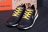 Мужские кожаные кроссовки FILA Black (реплика), фото 9