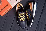 Мужские кожаные кроссовки FILA Black (реплика), фото 10