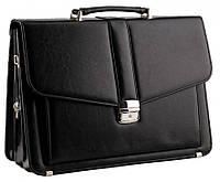 Классический мужской портфель из эко кожи AMO Польша SST11, фото 1