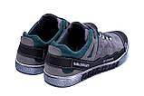 Мужские кожаные кроссовки Salomon Grey and Green Trend (реплика), фото 6