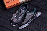 Мужские кожаные кроссовки Salomon Grey and Green Trend (реплика), фото 10